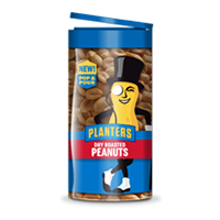 Planters pop and pour peanuts