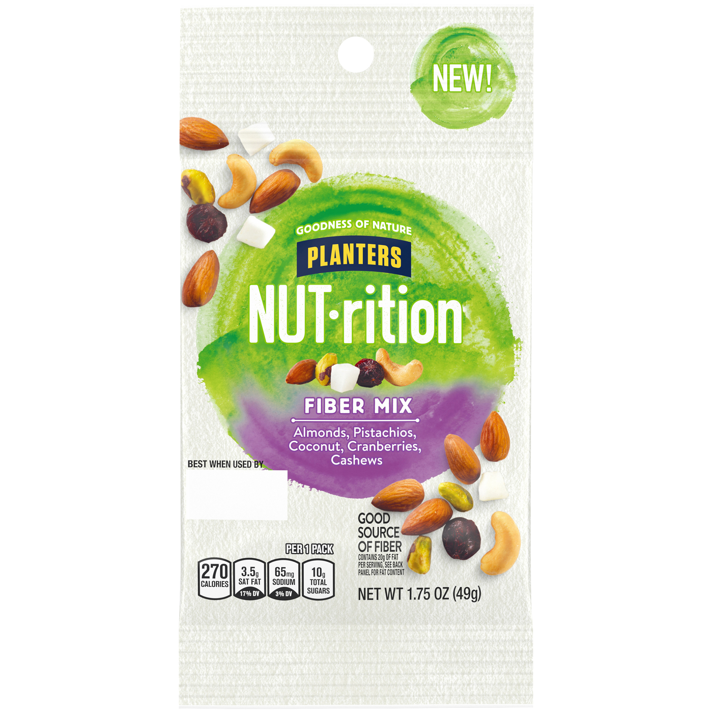 PLANTERS® NUT-RITION® Fiber Mix Mixed Nuts 1.7 oz pouch