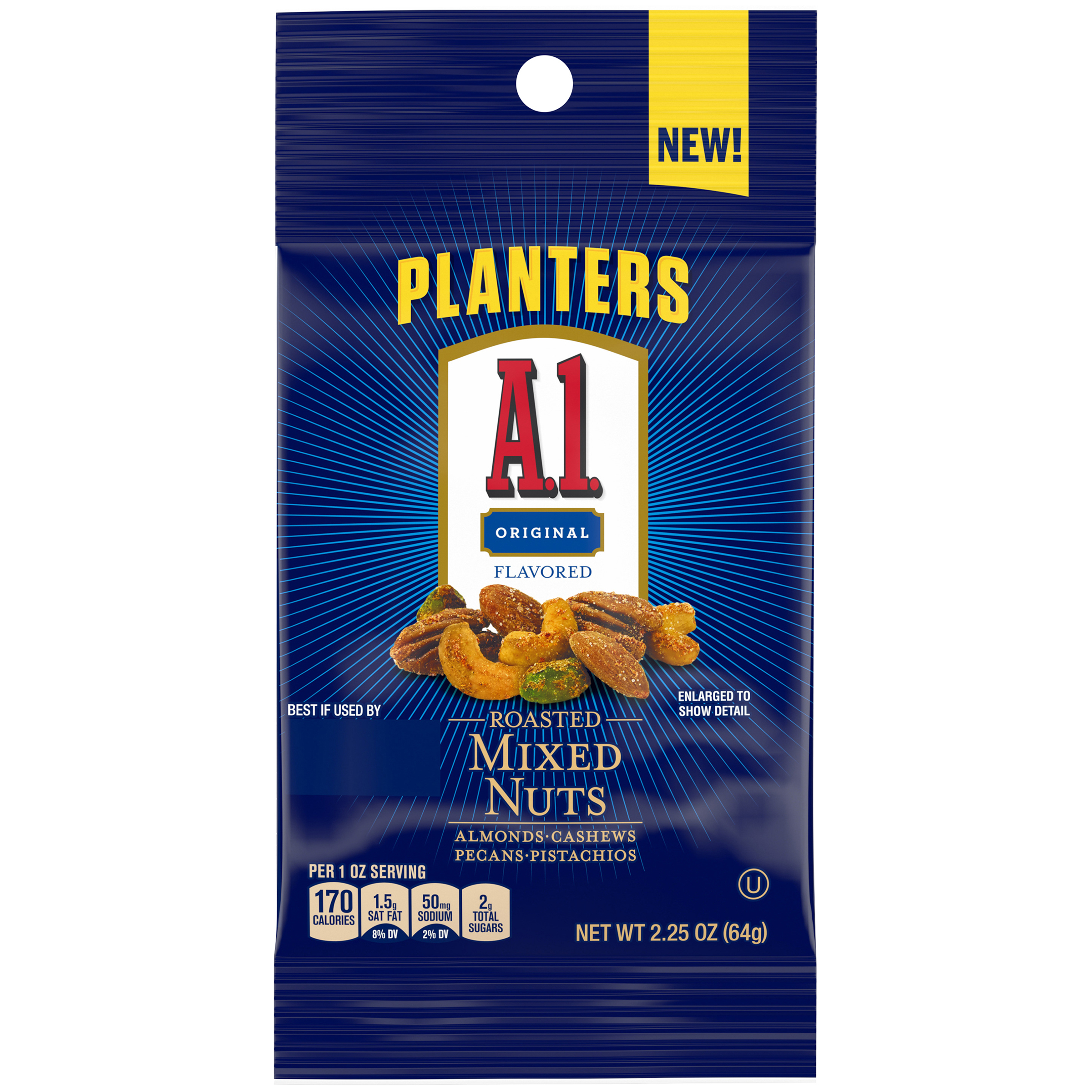 PLANTERS® A1 Deluxe Mixed Nuts 2.25 oz packet