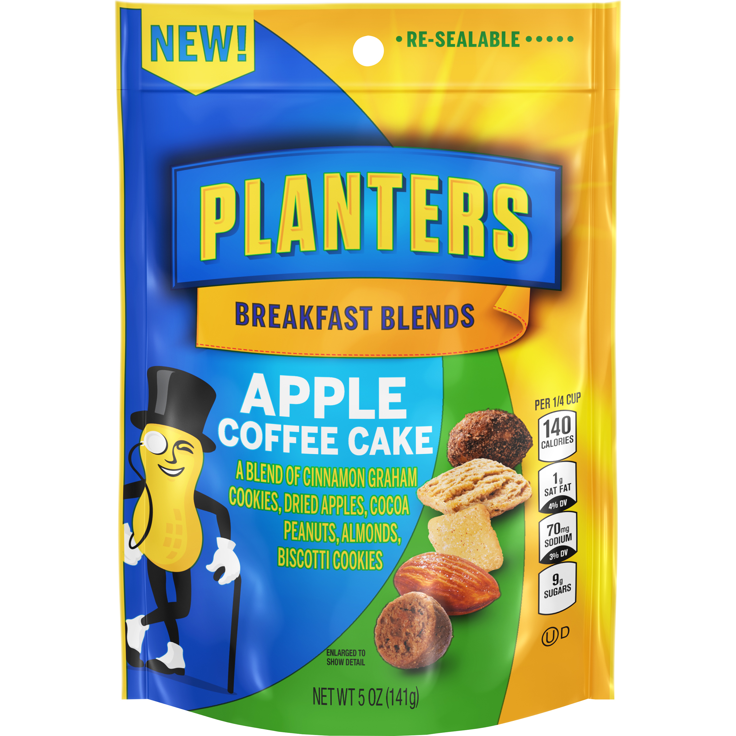 PLANTERS® Breakfast Blends Apple Coffee Cake Trail Mix 5 oz bag