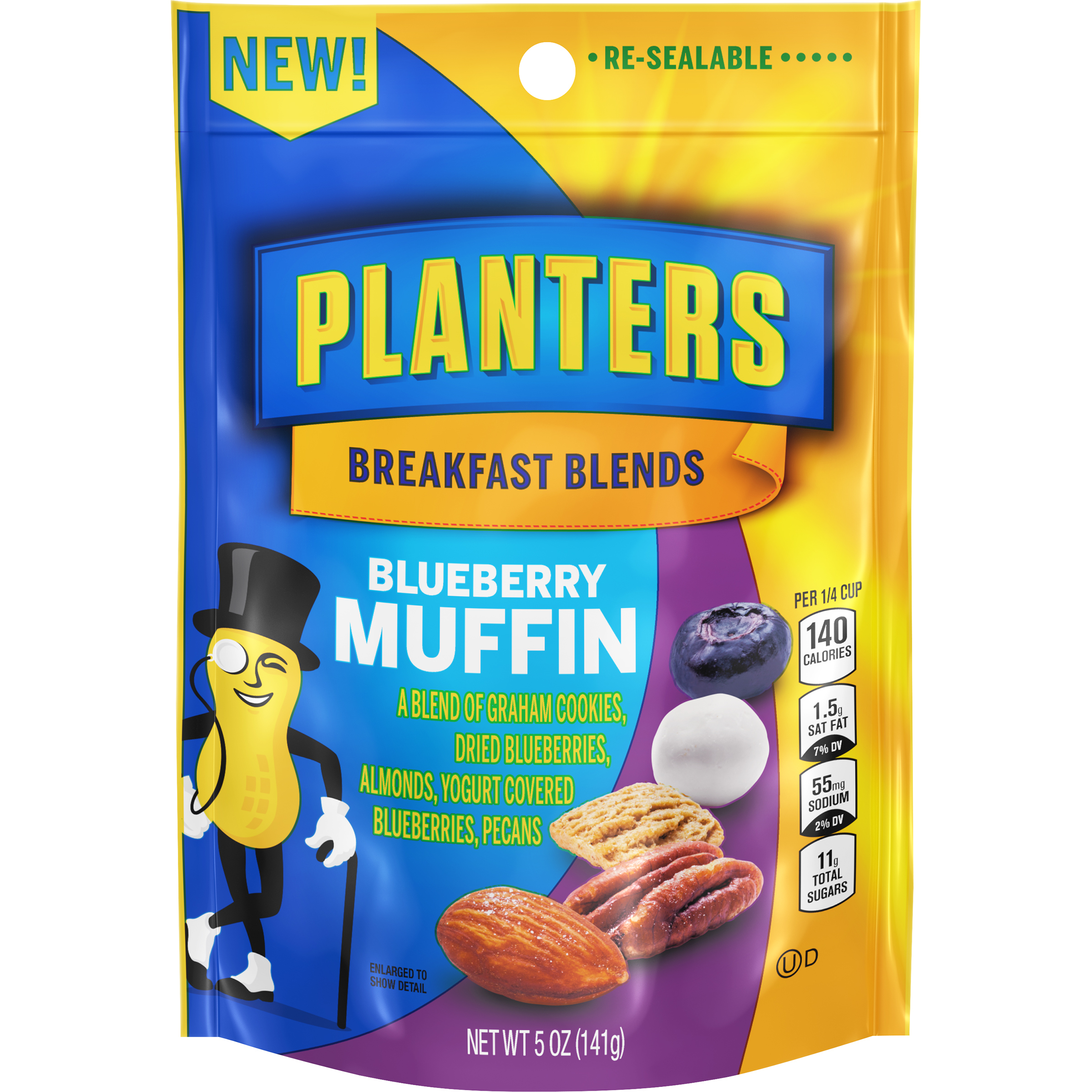 PLANTERS® Breakfast Blends Blueberry Muffin Trail Mix 5 oz bag