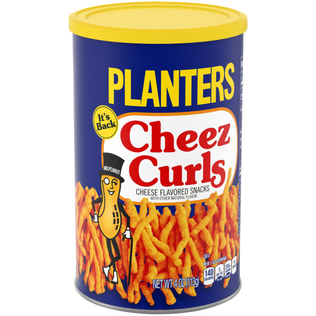 PLANTERS® Cheez Curls 4 oz canister