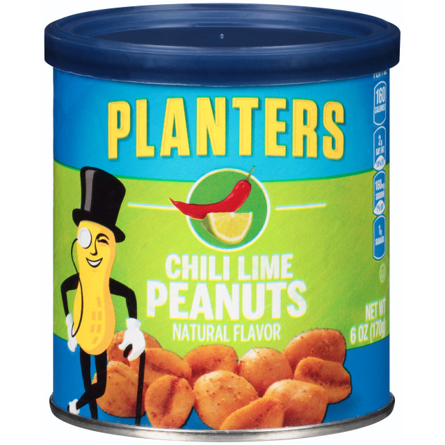PLANTERS® Chili Lime Peanuts 6 oz can