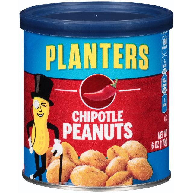 PLANTERS® Chipotle Peanuts 6 oz can
