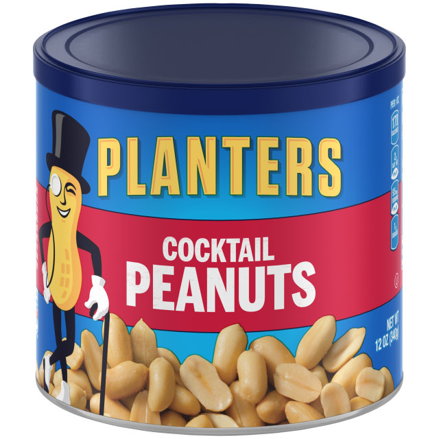 PLANTERS® Cocktail Peanuts 12 oz can