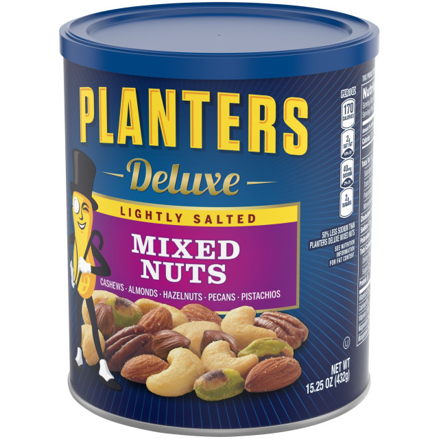 PLANTERS® Deluxe Lightly Salted Mixed Nuts 15.25 oz can