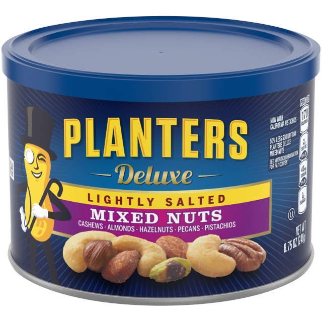 PLANTERS® Deluxe Lightly Salted Mixed Nuts 8.75 oz can