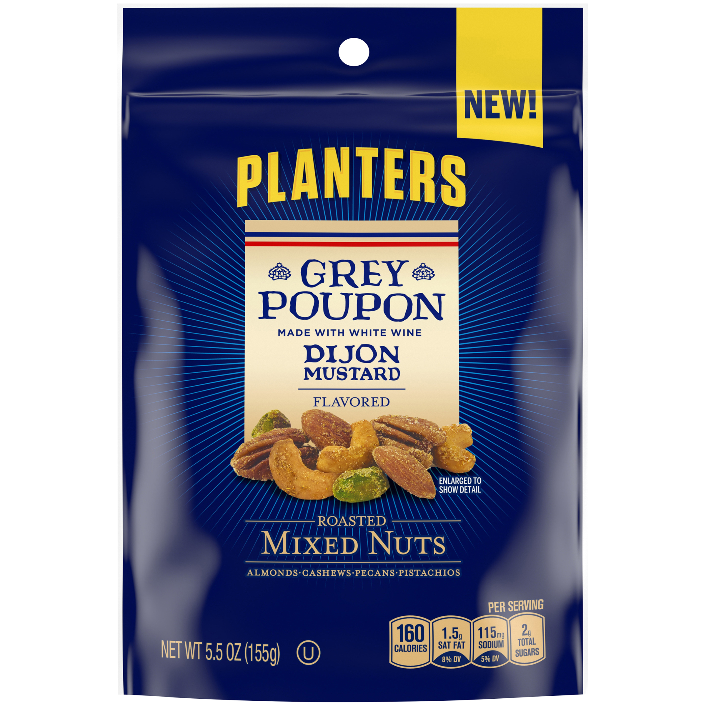 PLANTERS® Grey Poupon Sauce Flavored Roasted Mixed Nuts 5 oz bag