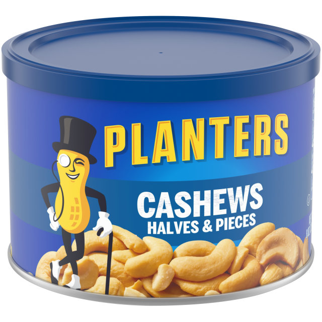 PLANTERS® Halves & Pieces Cashews 8 oz can