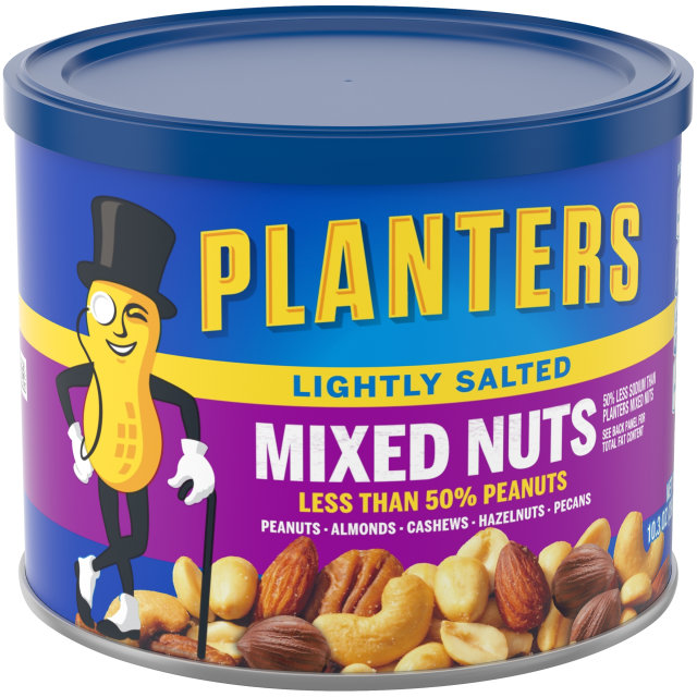 PLANTERS® Lightly Salted Mixed Nuts 10.3 oz can