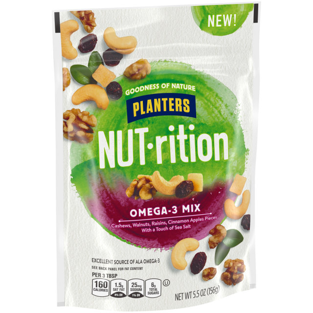 PLANTERS® NUT-RITION® Snack Nut and Dried Fruit Mix Omega-3 5.5 oz bag