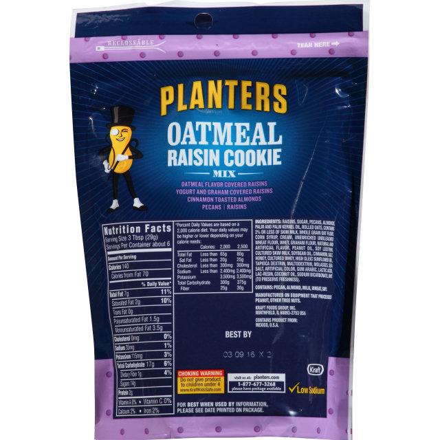 PLANTERS® Oatmeal Raisin Cookie 6 oz bag