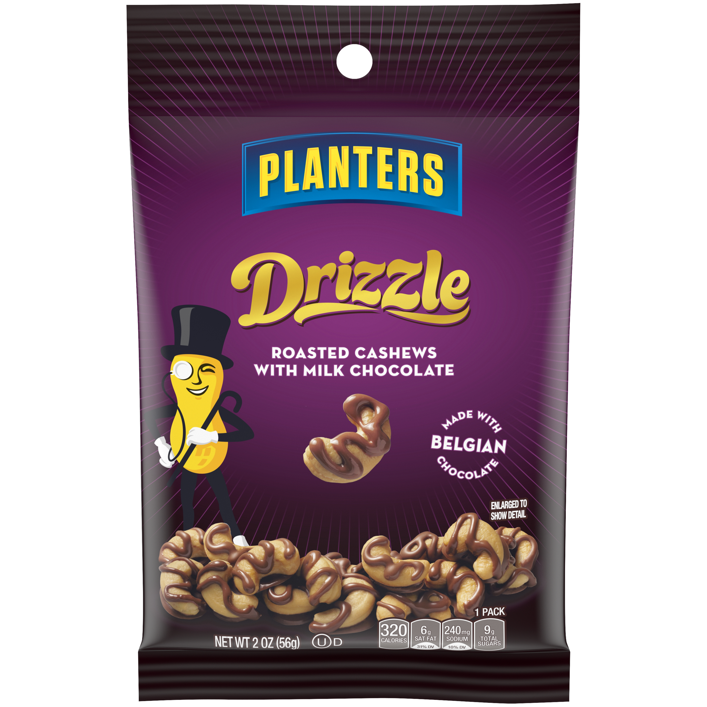 PLANTERS® On-the-Go Chocolate Drizzle Cashews 2 oz packet