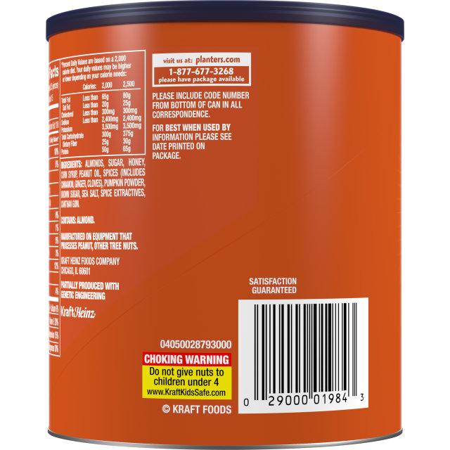 PLANTERS® Pumpkin Spice Almonds 15.25 oz can