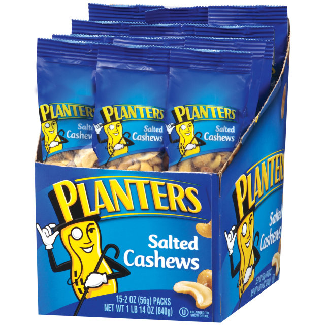 PLANTERS® Salted Cashews 15-2 oz bags