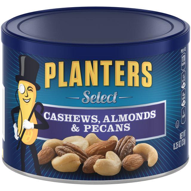 PLANTERS® Select Cashews Almonds & Pecans 8.25 oz can
