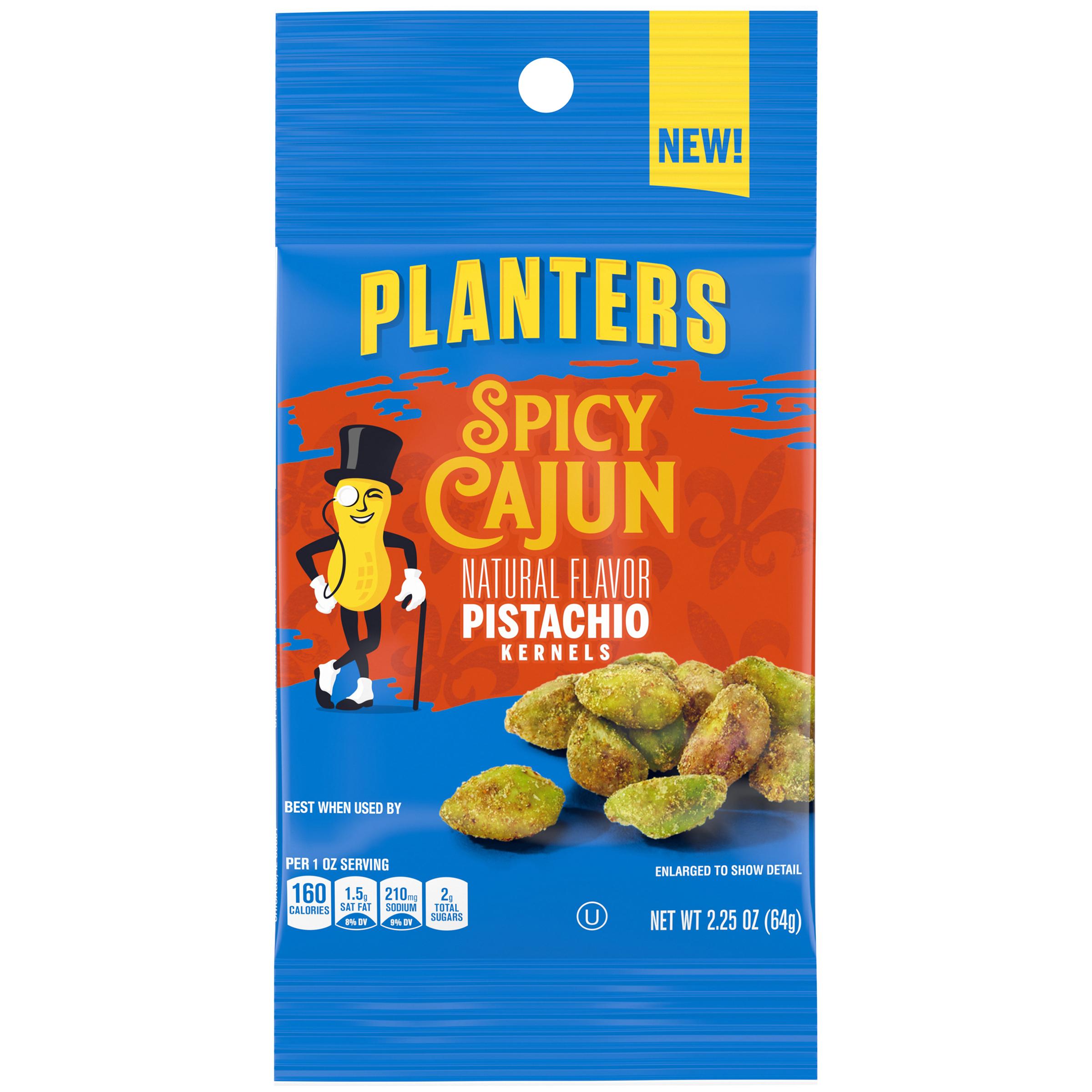 PLANTERS® Spicy Cajun Pistachios 2.25 oz packet