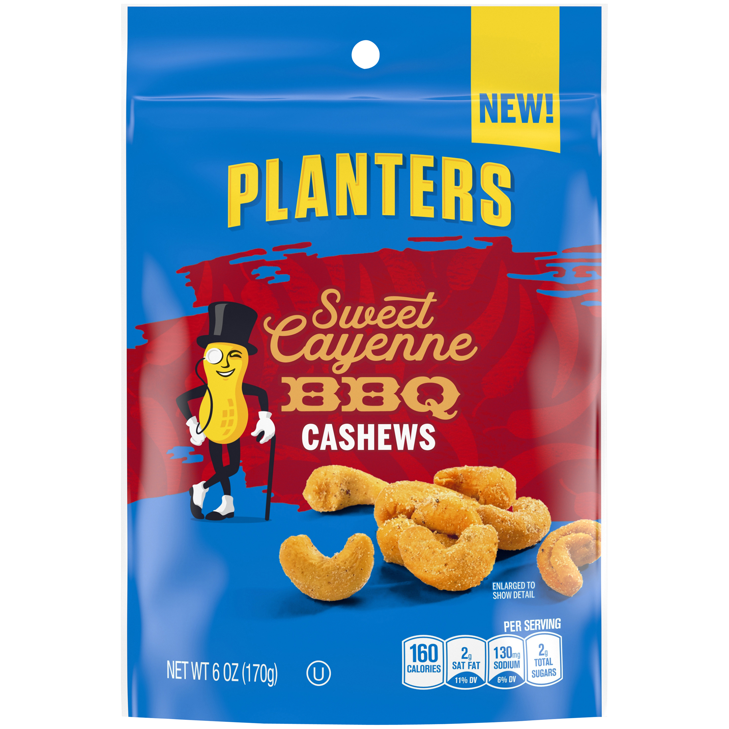 PLANTERS® Sweet Cayenne BBQ Cashews 6 oz bag