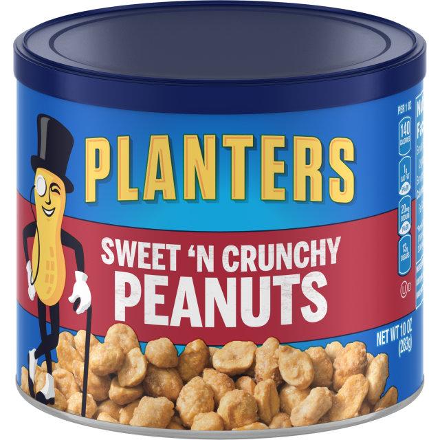 PLANTERS® Sweet N' Crunchy Peanuts 10 oz can