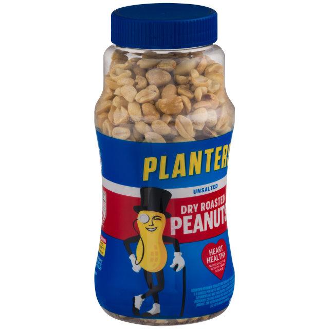 PLANTERS® Unsalted Dry Roasted Peanuts 16 oz jar