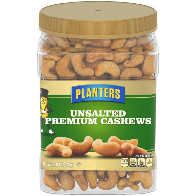 PLANTERS® Unsalted Premium Cashews 33 oz jar