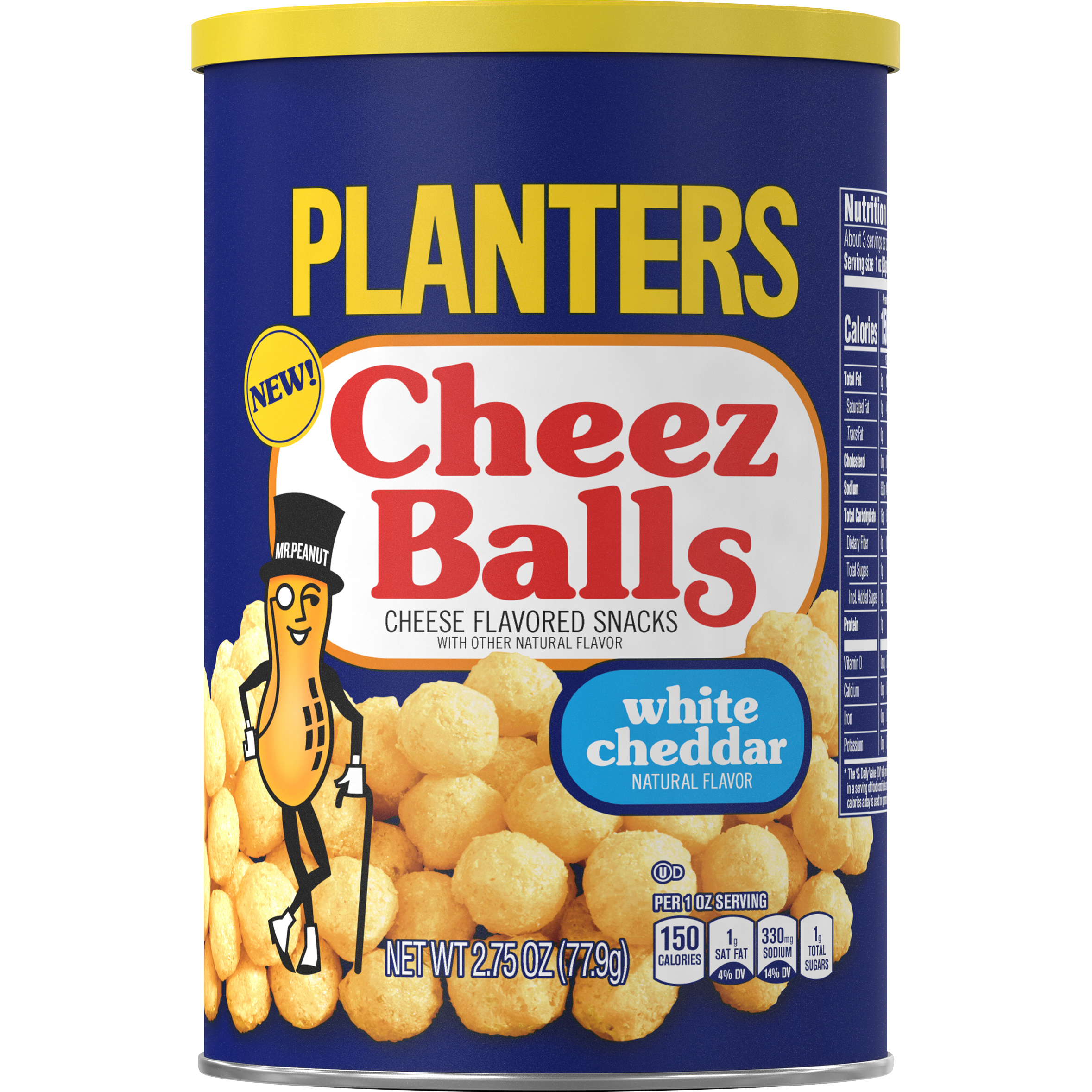 PLANTERS® White Cheddar Cheez Balls 2.75 oz canister
